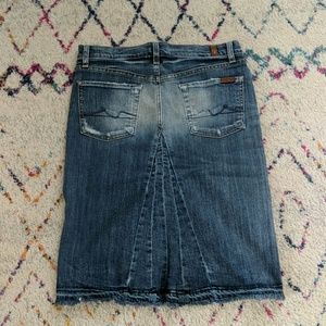 7 For All Mankind Skirts - 7 for all mankind denim skirt